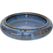 SALE Beautiful Fulper LOW FLOWER BOWL Chinese Blue Crystalline Glaze ~ Fulper Pottery ...