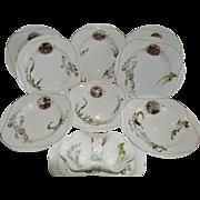 SALE Set of 8 French Bowls and Gravy Boat ~ Limoges Porcelain~ Basket Weave Embossed ...