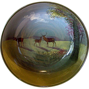 "SALE RARE Large 9'' Deer Bowl ~ D4644  ""C"" Series Ware  – Royal Doulton England 1927 - 1"