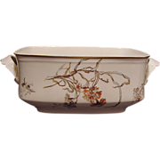 SALE Nice Large Rectangular Limoges Porcelain Serving Dish ~ Decorated with Blue Bells and ...