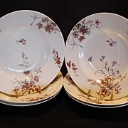 SALE Set of (6) ~ Wonderful Old Limoges Soup Bowls ~ Decorated with Rust and ...