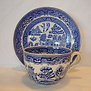 SALE Nice English Earthenware Cup and Saucer Set ~ Blue Willow Pattern ~ Ridgways England ...