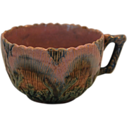 SALE Etruscan Majolica Cup ~ Seaweed / Seashell~ Griffen, Smith, Hill prior to 1879