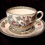 SALE INDIAN TREE Pattern – Cup & Saucer – JG Meakin 1912+