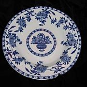 SALE Soup Bowl -  Blue & White Globe Pottery 1917