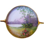 SALE Exquisite Porcelain Tray ~ Decorated by Pickard Studios with Vellum Landscape Scene ~ ...