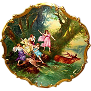 "SALE Extraordinary 15 ' 1/2'"" Limoges Porcelain Plaque / Charger ~ Hand Painted with ..."