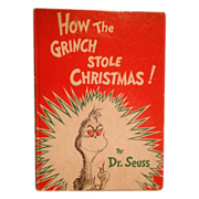 SALE How The Grinch Stole Christmas!  By Dr. Seuss 1957 Random House First Edition