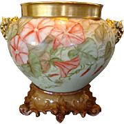SALE Limoges Jardiniere with Elephant Handles and Base ~ Large 10 inches tall on the base~ Han