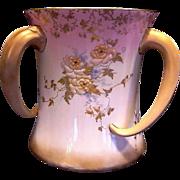 SALE RARE Doulton  3 Tusk Handled Loving Cup ~ Enamel Flowers ~Artist Initialed ~ Doulton ...