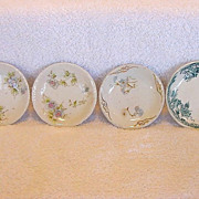 SALE Wonderful Mixed Assortment of (4) Ironstone Butter Pats with Floral Designs ~ one is ...