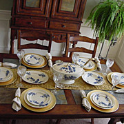 "SALE COPELAND Flow Blue 16-PIECE'S !!! - ""Ashburne"" Pattern ca.1850-1867"