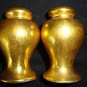SALE Nice Nippon All over Gold ( AOG ) Salt & Pepper Shakers ~ Noritake Nippon 1890-1921
