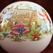 SALE Royal Doulton China ~ Bunnykins Globe Bank ~ Bunny Family Playing Piano ~ Royal ...