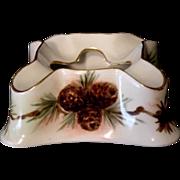 SALE Unique Limoges Porcelain Cigar Ash Receiver Hand Painted with Pine Cones ~ PL Limoges ...