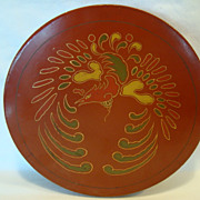SALE Large Round Bento Box ~ Red Lacquer ~ Decorated with Awesome Oriental Phoenix Bird ~ Trad