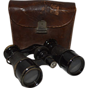 SALE French Field  / Binoculars / Opera  Glasses in Leather Case ~ Iris Paris France 1800s and