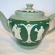 SALE Beautiful Jasperware Teapot ~ Three Colors ~ Dudson Brothers LTD Hanley England 1898