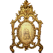 SALE Nice Ornate Gilded Metal Picture / Mirror Frame