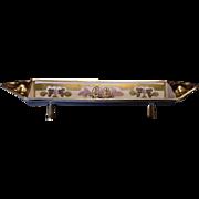 "SALE Exquisite ""PICKARD STUDIO DECORATED""  Art Nouveau Sugar Cube Tray or Card Holder ~ Ha"