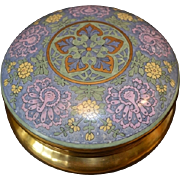 "SALE Exquisite Large 6 ¾"" Dresser Box ~ Art Deco ~ Bavarian Porcelain ~ Hand Painted with R"