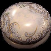 "SALE Exquisite 7 3/4"" Austrian Bon Bon Jar / Dresser Box ~ Artist Signed & Dated ~ Hand P"
