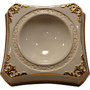SALE Unique Porcelain Horderve/Dip Dish ~ White with Gold Accents