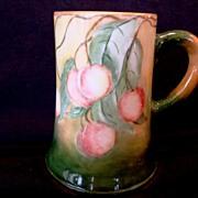 SALE Large Lenox Belleek Porcelain ~ Mug / Stein / Tankard ~ Hand Painted with a Wonderful ...