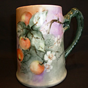 SALE SUPERB Bavarian Porcelain Mug ~ Hand Painted with Ripe Crabapples ~ Artist Signed CM McCo