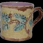 SALE Antique Etruscan Majolica Mug Acorn Pattern Griffin, Smith & Hill ~ Phoenixville, Pennsyl