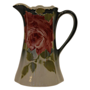SALE Beautiful French Faience Pitcher with Roses ~ Keller Guerin Luneville France 1890-1930