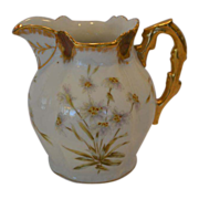 SALE Awesome Antique Limoges Pitcher ~ Hand Painted with Enameled Enhanced Flowers ~ Latrille