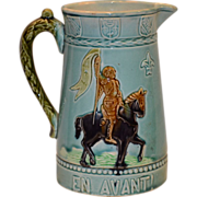 SALE Fantastic French Majolica Pitcher ~ Joan of Arch ~ Fives Pottery Factory – Gustave ...