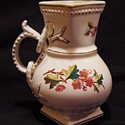 SALE Wonderful Old English Pitcher Decorated with Pink Flowers ~ Sampson Bridgwood & Son Staff