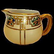 SALE Wonderful Limoges Porcelain Art Deco Lemonade / Cider Pitcher ~ Hand Painted with Passion