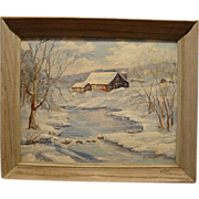 Beautiful Winter Landscape ~ Oil on Board ~ by listed artist Edna Boughton 1899 - ?