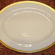 "SALE Exquisite Pickard 15 ¾"" Platter ~ Hand Painted with Encrusted Diamond Rim ~ Jefferson"