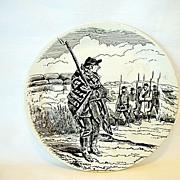 SALE French Faience Plate ~ National Guard Series ~ Paris Under Siege ~ BARLUET & Co (Creil &