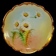 "SALE Wonderful Bavarian Porcelain Cabinet Plate ~ signed by Pickard Artist  ""GP Leach"""