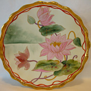 "SALE Awesome Limoges Porcelain Plate ~ Hand Painted By Pickard Artist ""Harry E Michel"" ~ ."