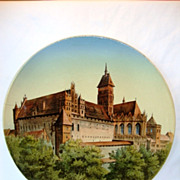 "SALE Impressive 17 ½"" Faience Plaque ~ Marienburg Castle Germany by Villeroy Boch Mettlach"