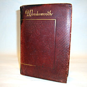 SALE Beautiful Leather Bound Book ~ The Poetical  Works of Wordsworth with Memoir Explanatory