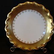 SALE Exquisite Limoges Porcelain Cabinet Plate – WIDE GOLD Rim on White ~ Coiffe Limoges ...