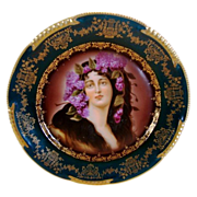 "SALE Superb Art Nouveau Portrait Plate of ""Epheu ~ Royal Vienna Style ~ Hand Painted ..."