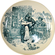 SALE Wonderful 11inch French Tavern Scene Plate / Wall Plaque by Louis Mimard ~ Men at ...