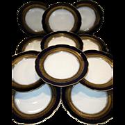 """SALE Set of Eleven (11) Gorgeous Limoges Porcelain 9 1/2"""" Dinner / Salad Plate Set ..."""