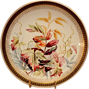 SALE Gorgeous Dinner Plate ~ Factory Decorated with Foliage and Berries ~ Royal Worcester ...