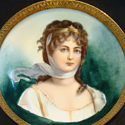 """SALE Extraordinary Portrait of Queen Louise of Prussia ~ 4 3/8"""" W Miniature ~Framed ..."""