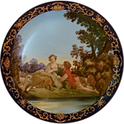 SALE Beautiful French Porcelain Cabinet Plate With Pastoral Scene
