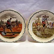 SALE 2 Great Horse Plates ~ Cavalier Series #2 #6 ~  Hautin & Boulengar ~ H ...